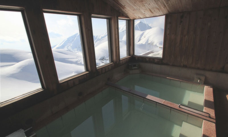The highest Onsen in Japan